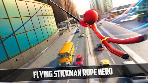 Grand Stickman Rope Hero Crime City screenshot 3