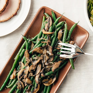 Stovetop Steam-Fried Green Beans and Mushrooms