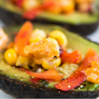 Avocado Stuffed with Herbed Veggies
