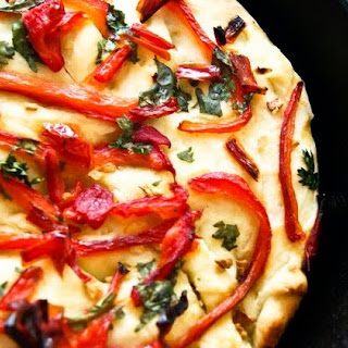 Roasted Sweet Pepper Focaccia Bread Recipe