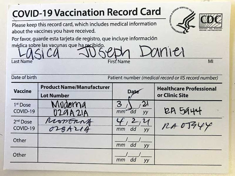 Here's what my CDC Vaccination Record Card looks like. You'll want to carry yours during your travels.