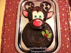 Photo: Karácsonyi szarvasfejes csokoládé torta.