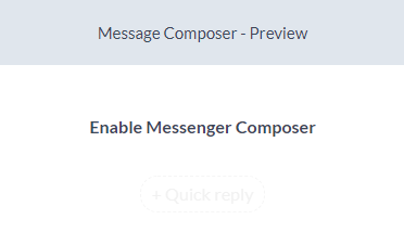 enable message composer - silfer bots