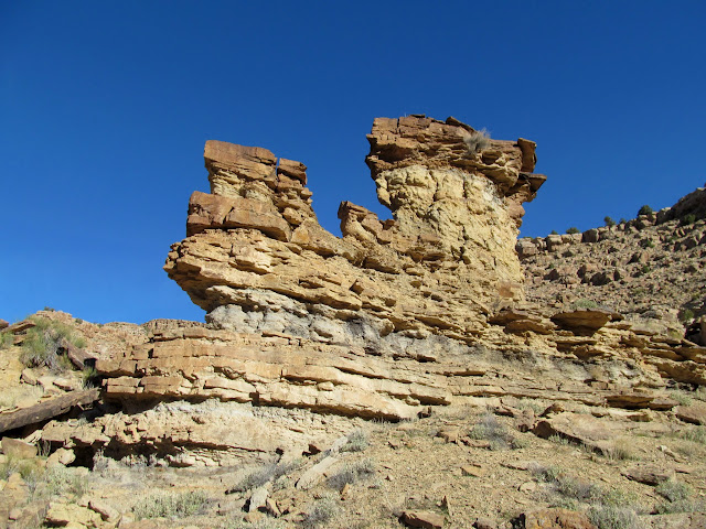 Rock pinnacles at an abandoned meander
