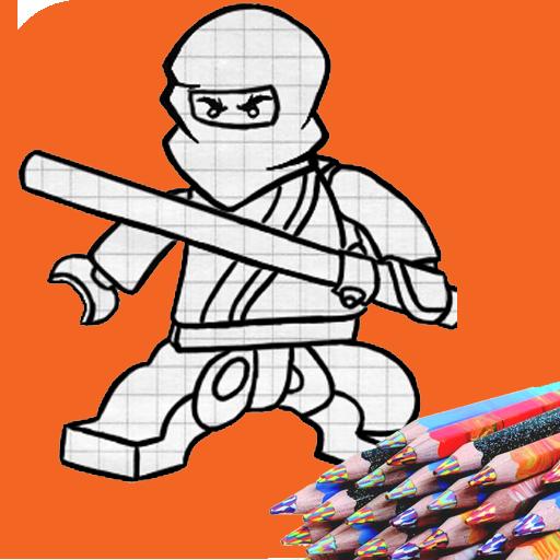How to draw ninja 遊戲 App LOGO-硬是要APP
