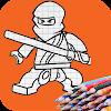 How to draw ninja on phone
