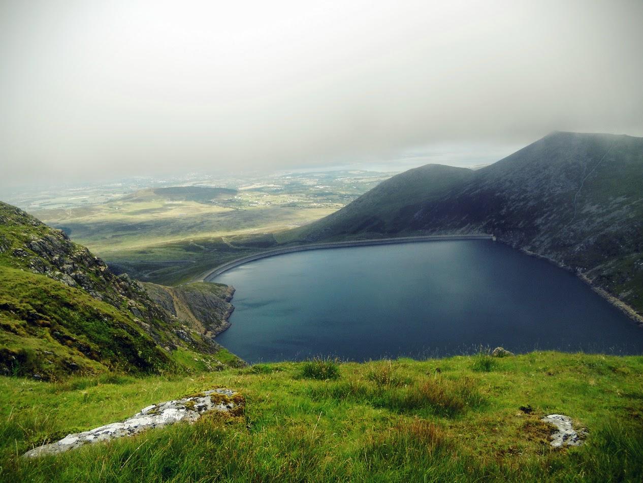 Marchlyn Mwar reservoir from Elidir Fawr