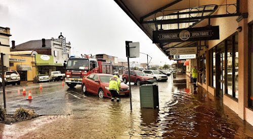 The 78.6mm of rain that fell on March 6, 2017, was a record for a single day in that month since record keeping began at the Narrabri Airport weather station in 2001. It caused scenes like the above flooding in Maitland Street.