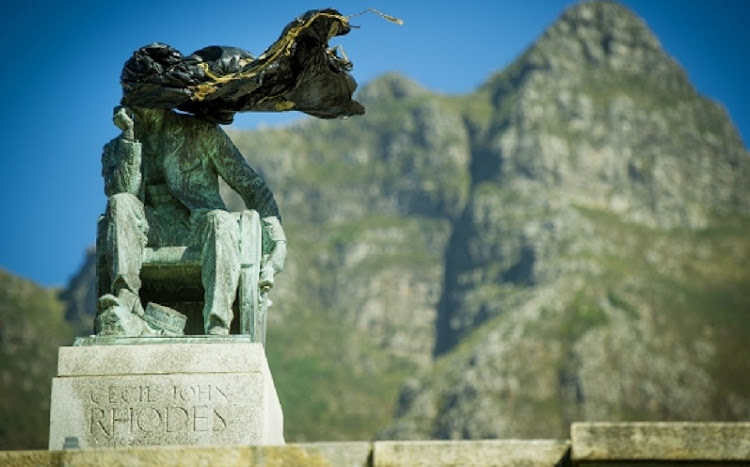 A statue of Cecil John Rhodes. Picture: GALLO IMAGES/FOTO24/LIZA VAN DEVENTER