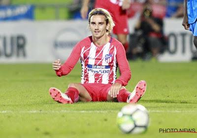 Atlético speelt gelijk met tien man na rood voor Griezmann