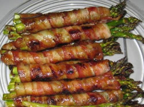 """Bacon-Wrapped Asparagus """"LOVE THIS RECIPE!! The whole family eats asparagus now!! It..."""