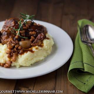 Oxtail Stew With Beans & Red Wine.