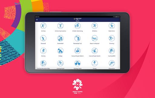 18th Asian Games 2018 Official App 1.0.2 screenshots 18