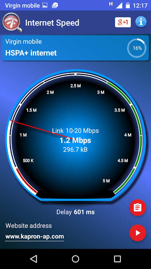 Real Internet Speed Test- screenshot