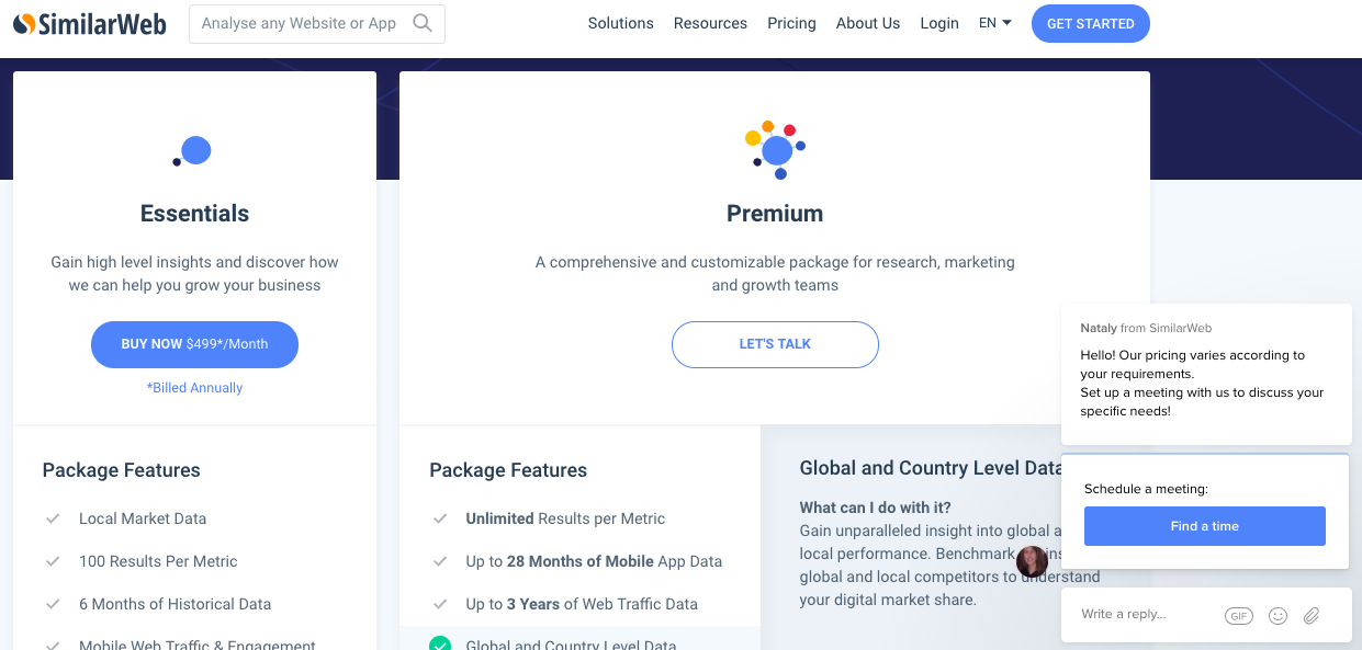 Similarweb Review | Pricing