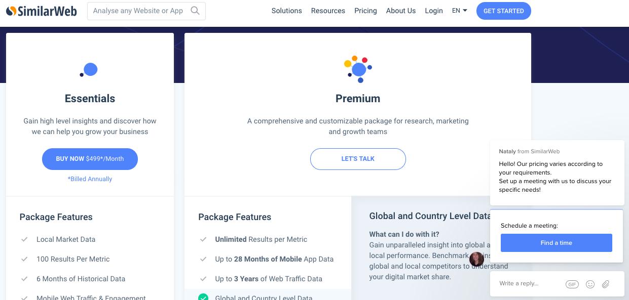 Similarweb Review | Pricing