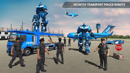 US Police Robot Car Game u2013 Police Plane Transport 1.02 screenshots 1