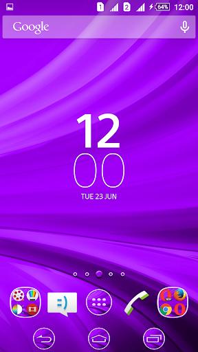 Waves Purple XZ Theme