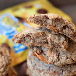 High Altitude Butterfinger Candy Cookies