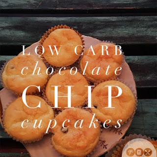 Low Carb Chocolate Chip Cupcakes.