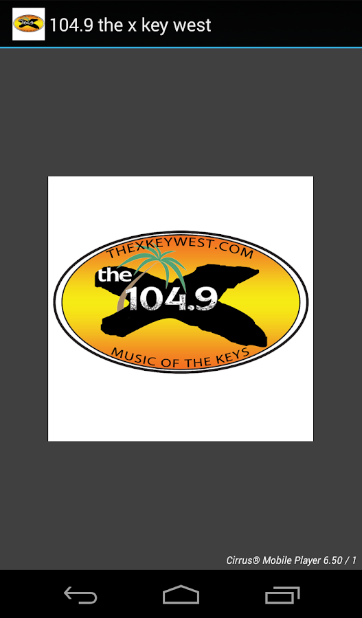 104.9 the x key west- screenshot
