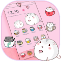 Cute Cup Cat Theme Kitty Wallpaper & icon pack download