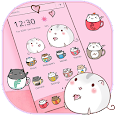 Cute Cup Cat Theme Kitty Wallpaper & icon pack icon