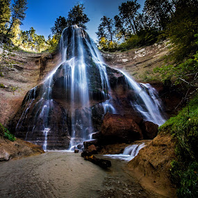 Smith Falls by Eric Wellman - Landscapes Waterscapes ( tree, waterfall, wide )