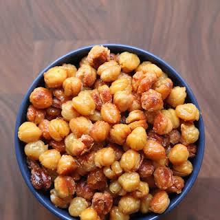 Salt and Vinegar Roasted Chickpeas.