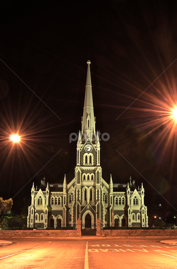 NG Church Graaff Reinet  by Martha van der Westhuizen - Buildings & Architecture Places of Worship ( illuminated, night photography, church, national monument, facade,  )