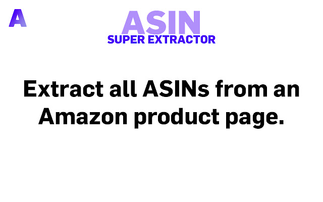 ASIN Super Extractor