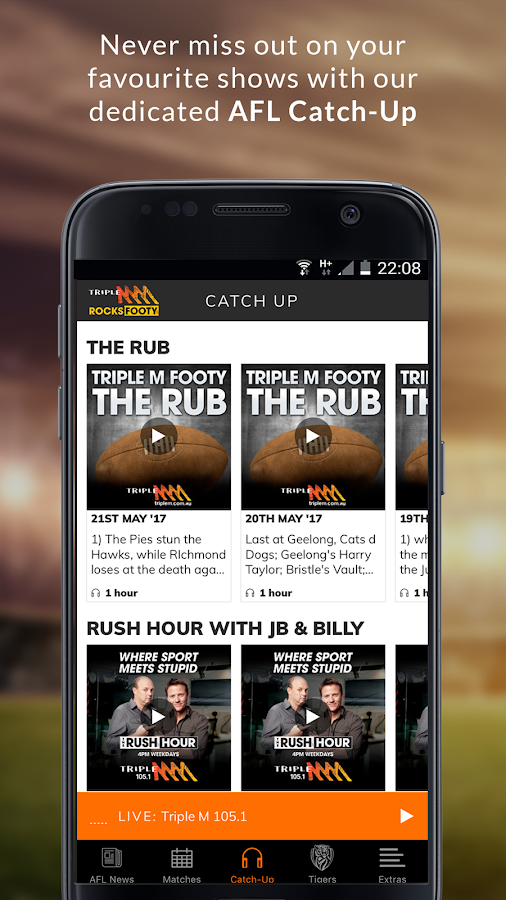 Triple M Footy- screenshot