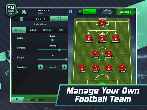 Soccer Manager 2020 - Football Management Game apkpoly screenshots 8