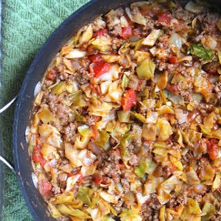 Amish One-Pan Ground Beef and Cabbage Skillet.