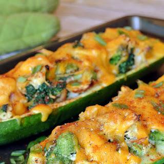Broccoli Chicken Zucchini Boats.