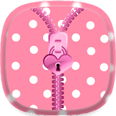 Cute Pink Zipper Lock Screen Android APK Download Free By SOLITUDE