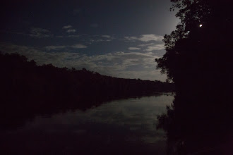 Photo: evening, with a full moon