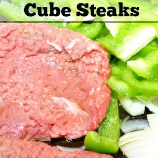 Easy Pan-Fried Cube Steaks.
