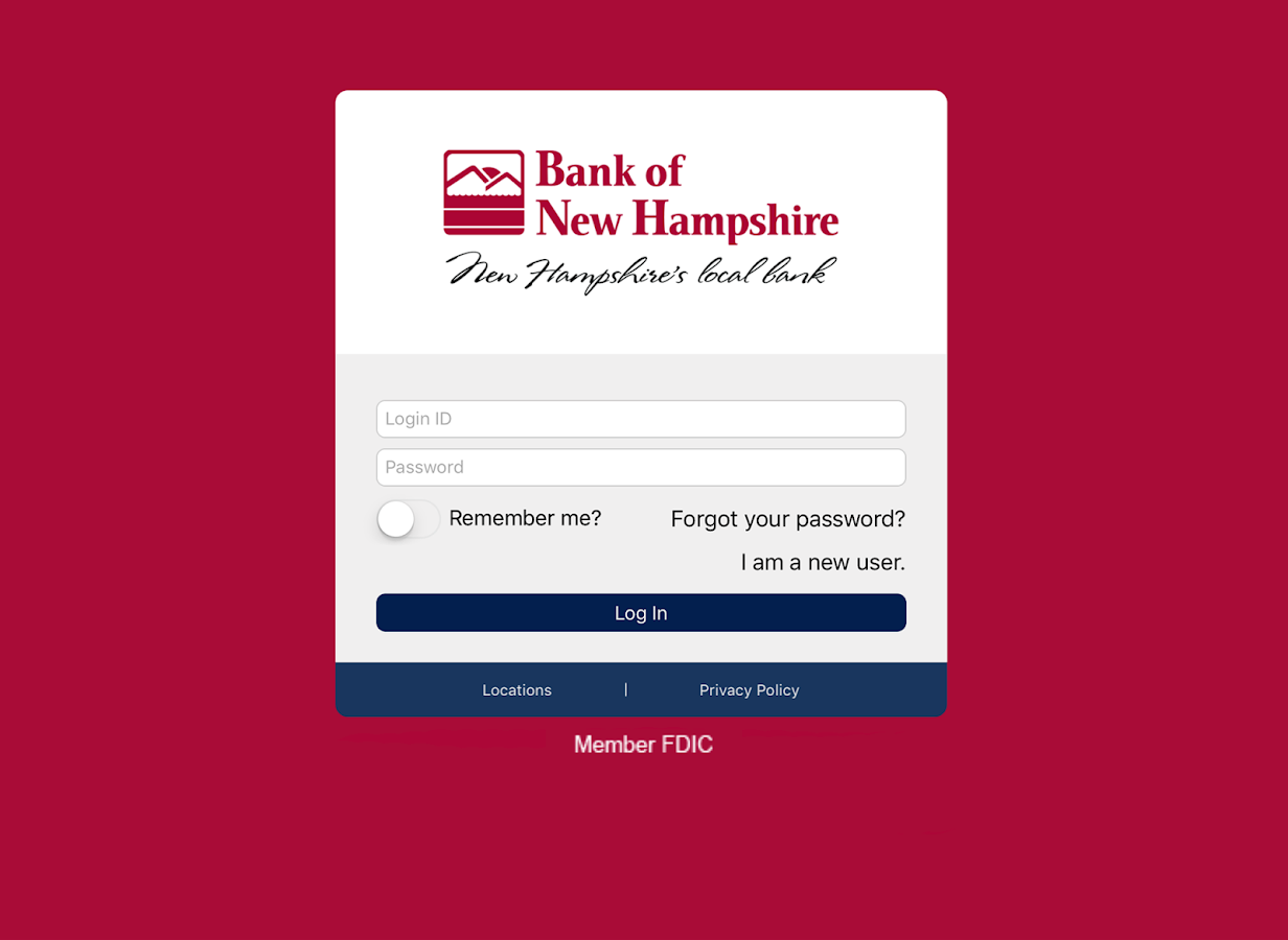Bank of New Hampshire BeMobile- screenshot