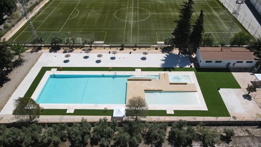 La nueva piscina municipal de Serón.