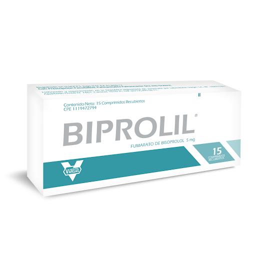 Biprolil 5mg 15 Comp Bisoprolol Vargas Biprolil