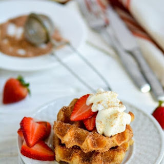 Cinnamon Sugar Churro Waffles Recipe