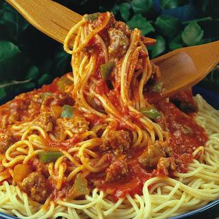 Hearty Spaghetti with Pork.