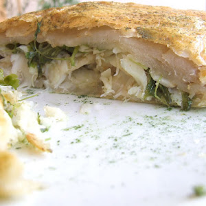 Codfish and Watercress Pastry
