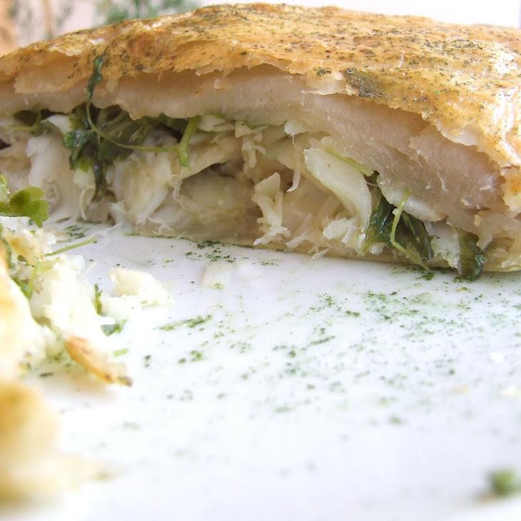 Codfish and Watercress Pastry