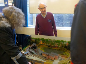 Photo: 012 Accompanying Stan Williams was fellow Merseyside modeller Roger Christian with his own small layout essay: South West Lancashire Light Railway, a layout directly inspired by the full size West Lancashire Light Railway .