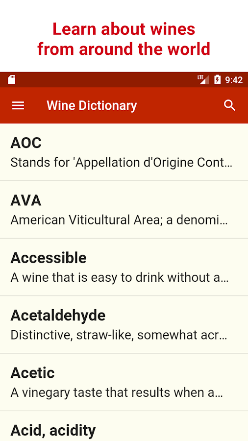 Wine Dictionary- screenshot