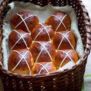 Sweet Potato And Brown Butter Hot Cross Buns.