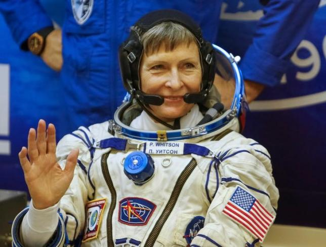 The International Space Station (ISS) crew member Peggy Whitson. REUTERS/Shamil Zhumatov