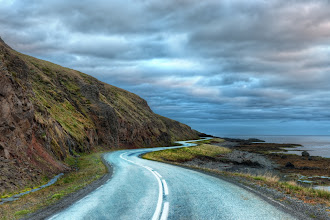 Photo: The Long Curvy Road Around Iceland  when I get to Iceland, I'll be up on this wonderful road again... this gentle curving road that circumnavigates the island... sleeping days and staying up through the white nights... I can't wait!  from the blog www.stuckincustoms.com